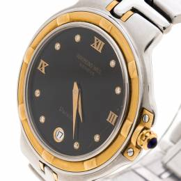 Raymond Weil Black Gold Plated Stainless Steel Parsifal 9190 Women Watch 35MM 146076