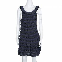 Marc By Marc Jacobs Navy Blue Lace Tiered Dress XS 133825