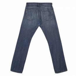 Dior Blue Washed Faded Effect Distressed Denim Jeans S 135809