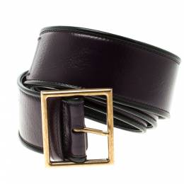 Saint Laurent Purple Leather  Waist Belt 90cm 118804