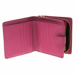 Loewe Pink Leather Compact Wallet 102086