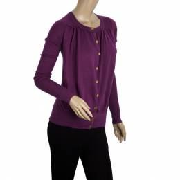Marc By Marc Jacobs Cotton-silk Gold Button Cardigan XS 20665