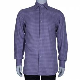 Tom Ford Men's Purple Check Shirt M 46220