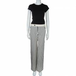 10 Crosby Derek Lam Striped Cotton Trousers S 59406