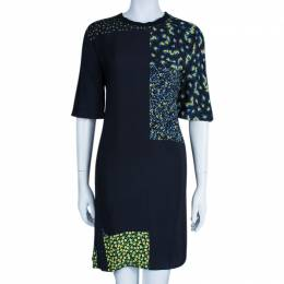3.1 Phillip Lim Black Floral Print Silk Dress S 45454