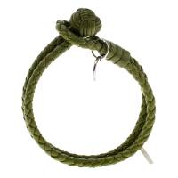 Bottega Veneta Green Intrecciato Nappa Leather Double Strand Bracelet M