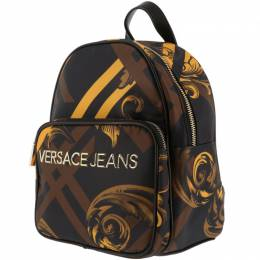Versace Jeans Multicolor Print Fabric Backpack 161996