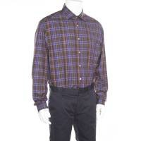 Ralph Lauren Multicolor Checked Cotton Long Sleeve Button Front Shirt 3XL