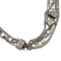Chanel Multistrand Faux Pearl Silver Tone Long Necklace
