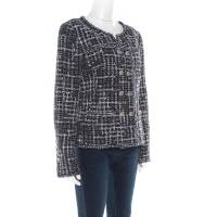 Chanel Midnight Blue Tweed Double Breasted Jacket M