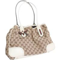 Gucci Beige Monogram Canvas Tote Bag