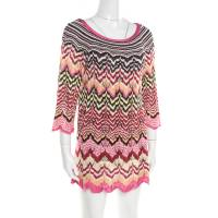 Missoni Multicolor Perforated Patterned Knit Tunic M