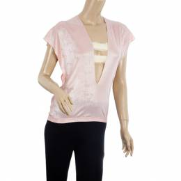 Roland Mouret Pink Metallic Stretch Top S 19552