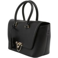 Valentino Black Soft Calfskin Leather Small Demilune Double Handle Bag