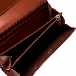 Montblanc Red Soft Grain Leather 10CC Long Wallet 196628
