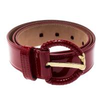 Dolce & Gabbana Red Patent Leather Belt 90CM