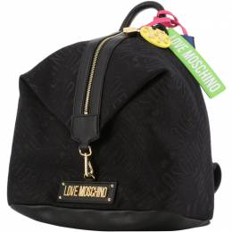 Love Moschino Black Signature Canvas Backpack 196208