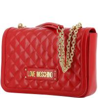 Love Moschino Red Quilted Faux Leather Chain Shoulder Bag