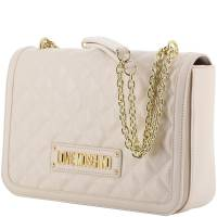 Love Moschino White Quilted Faux Leather Chain Shoulder Bag