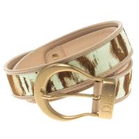 Dior Beige/Brown Canvas and Leather Belt 80CM 102666