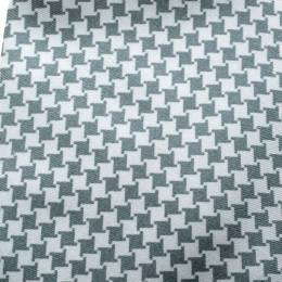 Yves Saint Laurent Grey and White Houndstooth Print Silk Tie 146464