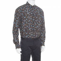 Salvatore Ferragamo Multicolor Cactus Printed Cotton Long Sleeve Shirt XL 163773