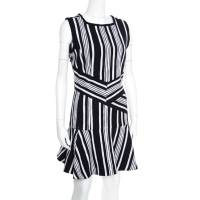 Carven Monochrome Textured Cutout Back Detail Sleeveless Dress L