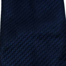 Chopard Navy Blue Patterned Silk Jacquard Traditional Tie 180838