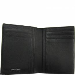 Dior Silver Leather Bifold Wallet 182858