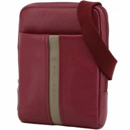 Piquadro Red Leather Messenger Bag 194642