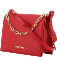 Love Moschino Red Faux Leather Chain Crossbody Bag