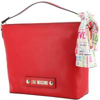 Love Moschino Red Faux Leather Scarf Shoulder Bag