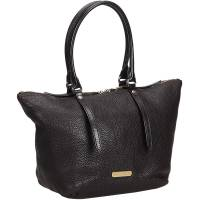 Burberry Black Leather Tote Bag