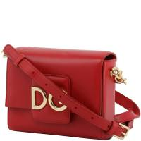 Dolce and Gabbana Red Leather DG Millenials Crossbody Bag