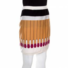 Moschino Couture Its Lit Multicolor Wool Mini Skirt M 148945