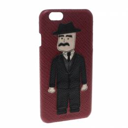 Dolce & Gabbana Red Leather Sicilian Man Patch iPhone 7 Case 150858