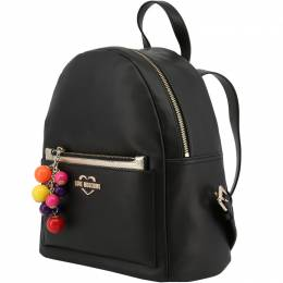 Love Moschino Black Faux Leather Backpack 183481