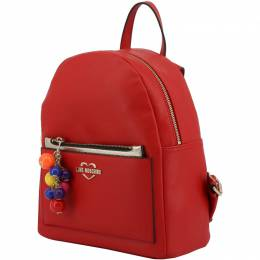Love Moschino Red Faux Leather Backpack 183485