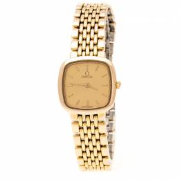Omega Gold Plated Stainless Steel De Ville 795.0898.2 Women's Wristwatch 21 mm 201285