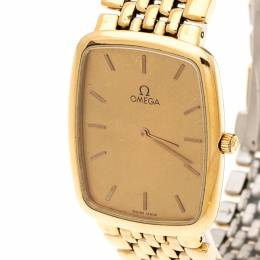 Omega Gold Plated Stainless Steel De Ville 395.0876.2 Men's Wristwatch 26 mm 201270