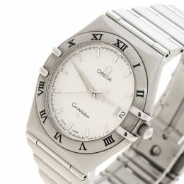 Omega Silver White Stainless Steel Constellation 1532 Women's Wristwatch 33 mm 143873