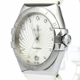 Omega Silver Stainless Steel Constellation Women's Wristwatch 35MM 138937