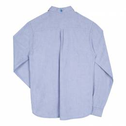 Little Marc Jacobs Blue Cotton Chambray Long Sleeve Button Front Shirt 12+ Yrs 102781