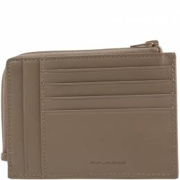 Piquadro Brown Leather Credit Card Holder 181609