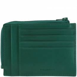Piquadro Green Leather Credit Card Holder 181624