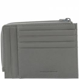 Piquadro Grey Leather Credit Card Holder 222636