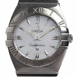 Omega MOP Stainless Steel Constellation Double Eagle Women's Wristwatch 24MM 184456