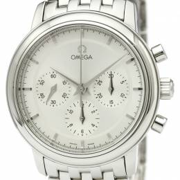 Omega Silver Stainless Steel De Ville Men's Wristwatch 36MM 184470