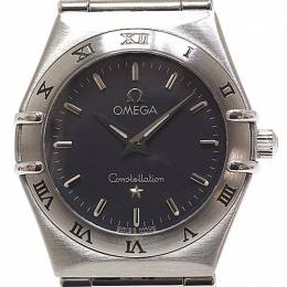 Omega Grey Stainless Steel Constellation Women's Wristwatch 24MM 184463