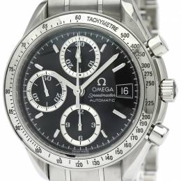 Omega Black Stainless Steel Speedmaster Men's Wristwatch 39MM 184369